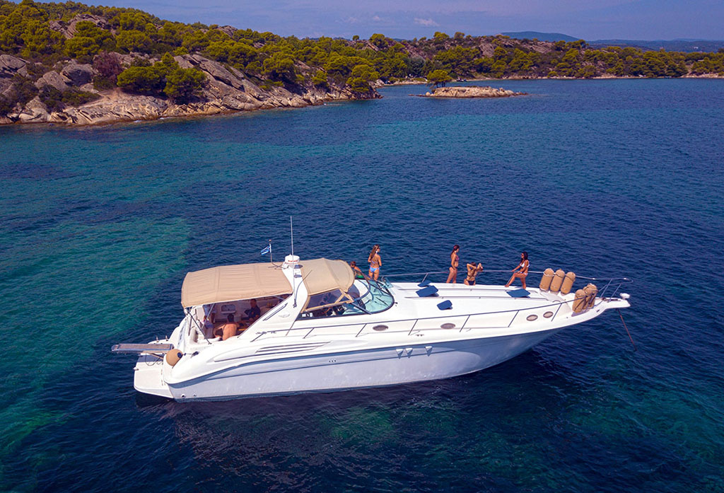 Half Day Cruise to Diaporos Island (Sea Ray Motor Yacht from Ormos Panagias)