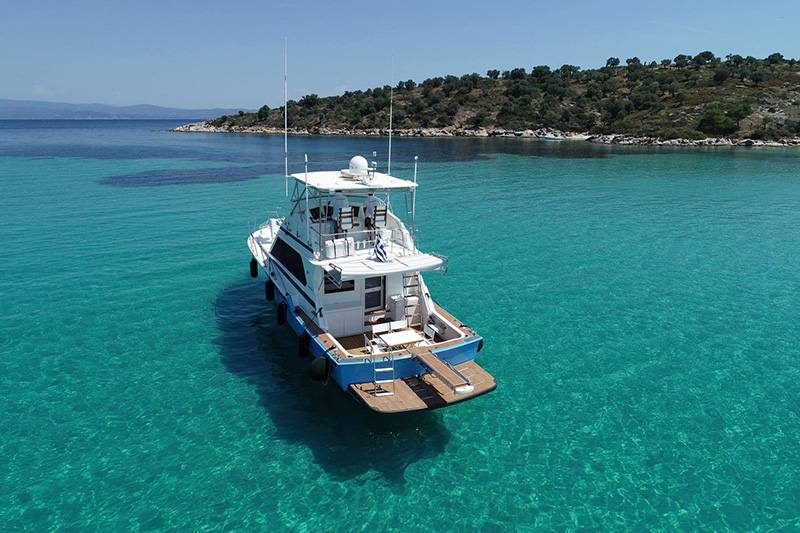 Motor Yacht Half Day Cruise to Diaporos (from Ormos Panagias)