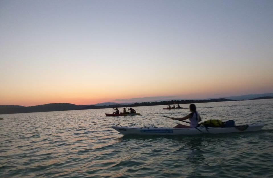 The Sunset Sea Kayak Trip of Sithonia (Vourvourou)