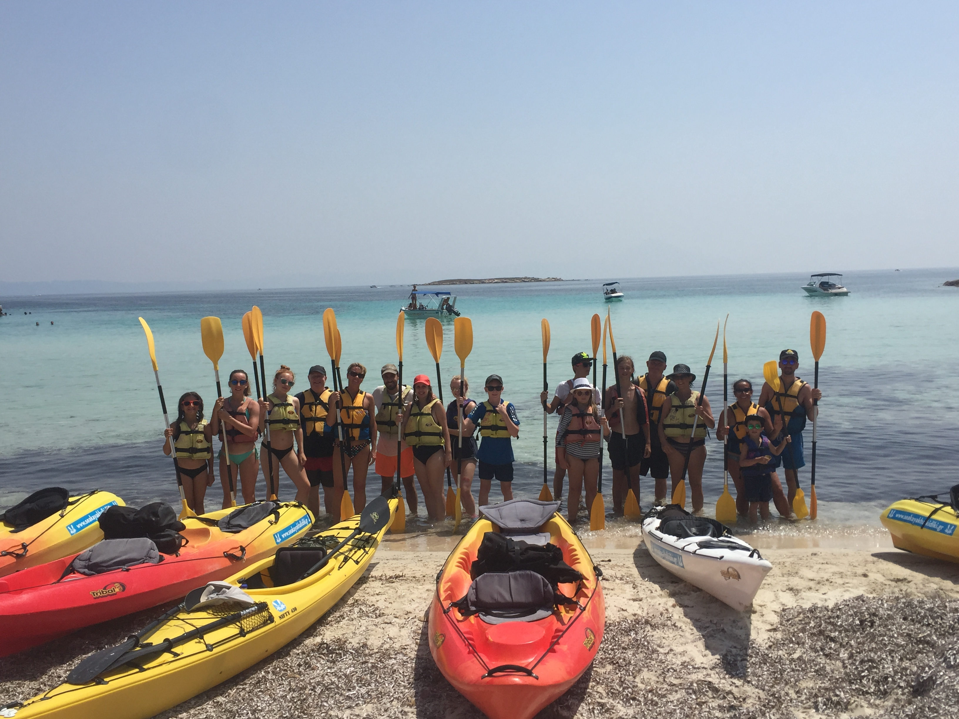The Half Day Sea Kayak Trip  Sithonia (Vourvourou)