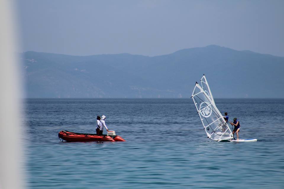 Windsurfing lesson in Armenistis Halkidiki